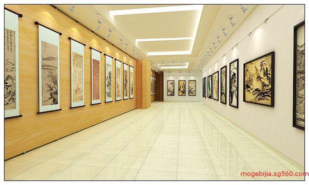 书画展厅设计中最美的地方图片