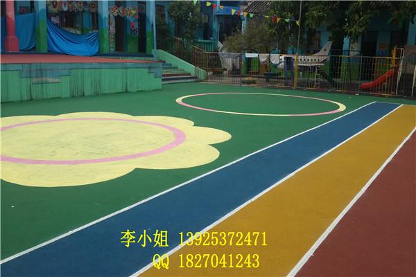 顺德幼儿园滑梯EPDM塑胶地面 彩色安全橡胶地垫规格