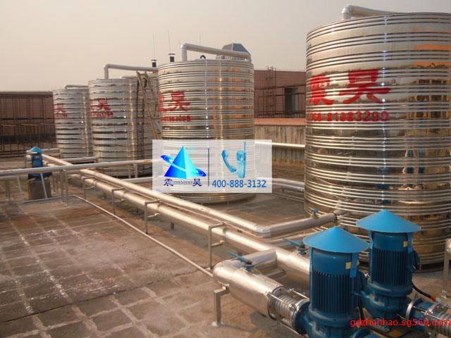 东莞美的空气能热泵热水器,工厂宿舍热水系统,工厂热水解决方案
