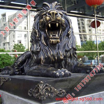 铜雕狮子 铸铜汇丰狮子 汇丰狮子雕塑