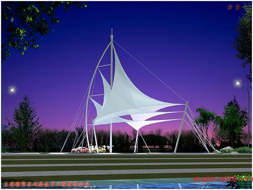 标志性建筑,桅杆膜结构