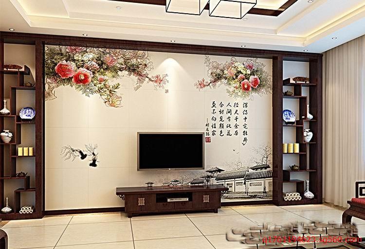 长沙玻璃背景墙_电视背景墙