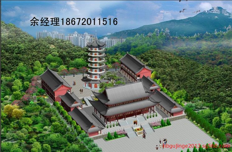 寺庙设计效果图,寺院设计规划图,寺庙图纸设计