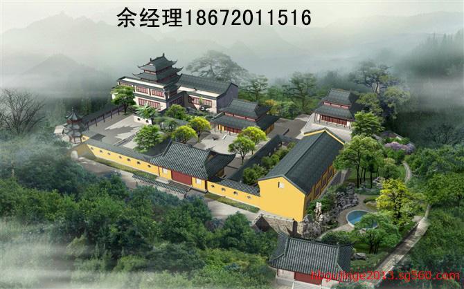 寺庙装修效果图,寺院装饰设计