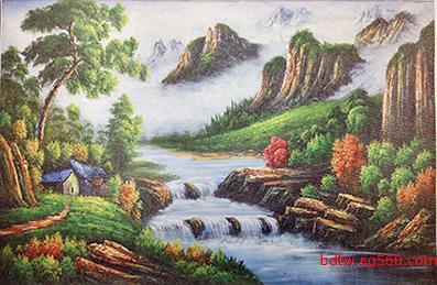 供应宽幅油画布喷绘订做 宽幅油画布` 纯棉油画布 油画艺术品复制