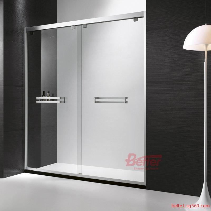 铝材淋浴房/屏风/不锈钢吊轮/钢化玻璃