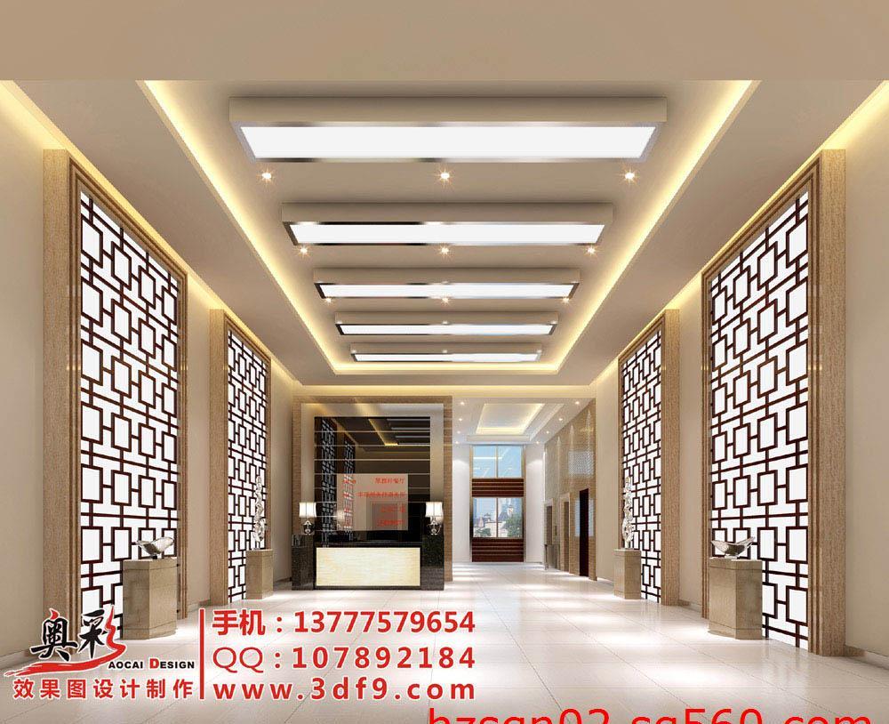 前厅效果图制作,杭州专业做工装效果图的公司,大厅装修效果图
