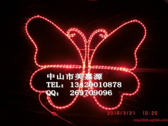 led蝴蝶造型灯,路灯杆蝴蝶图案灯,路灯杆亮化灯图片