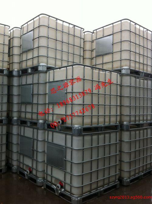 大口一吨桶 外带铁架 吨桶大口1000l塑料桶方形
