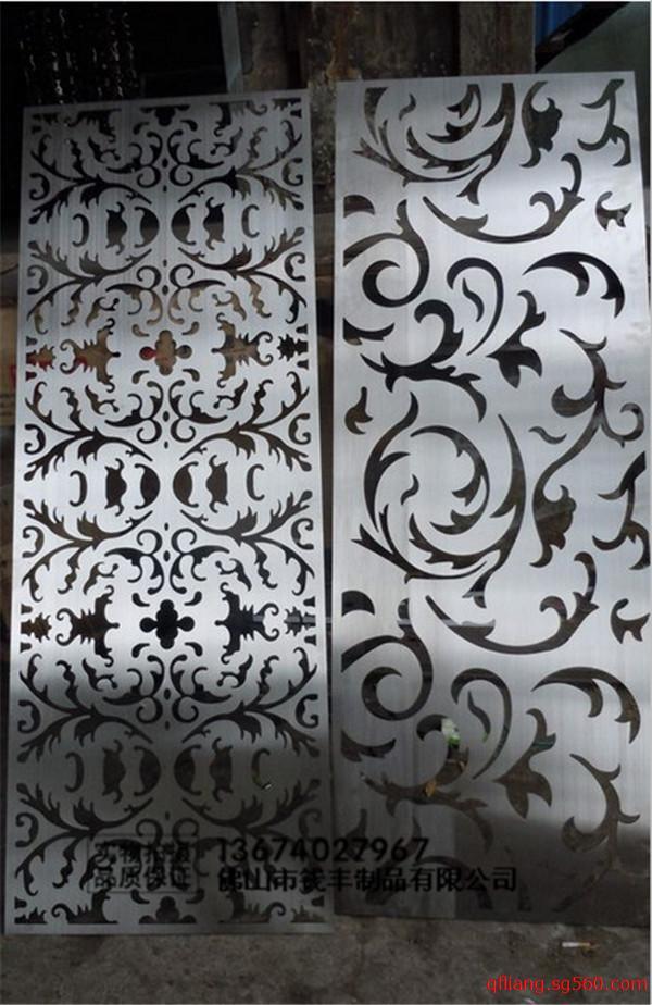 复古铝板激光雕刻花纹镂空屏风