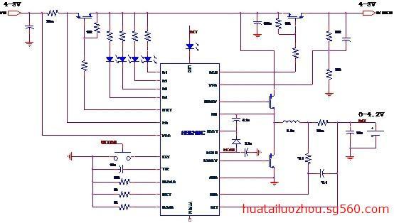开关型单节锂电池充电和升压放电控制芯片hb6268