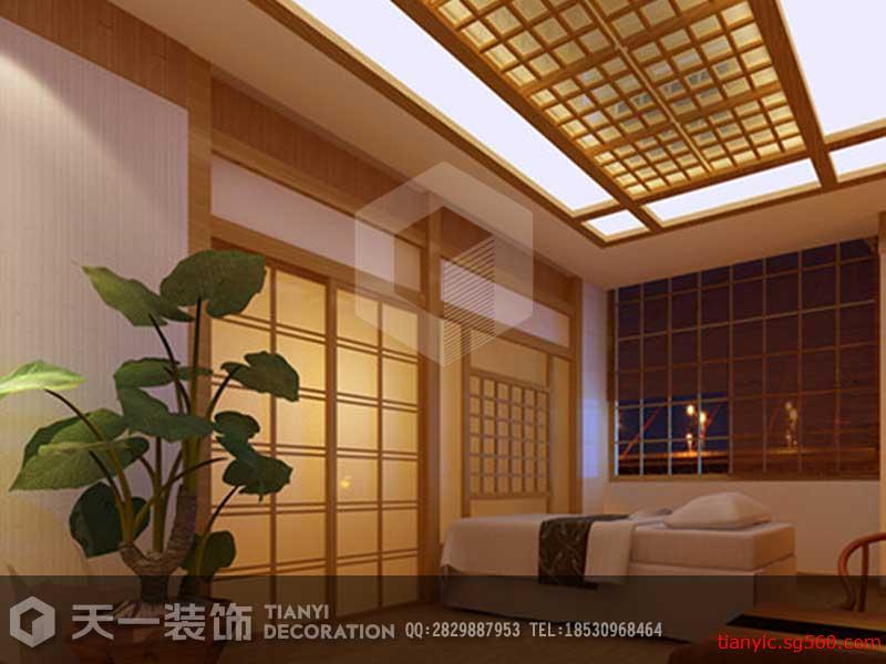 信陽中式美容院裝修設計效果圖片