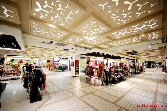 成都大型百货商场装饰装修设计效果图四川时代装饰