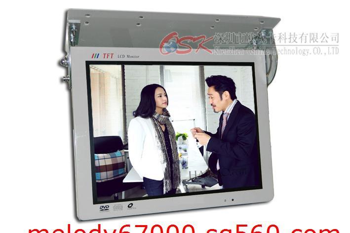 15寸车载显示器 中巴客车电视机选配车载硬盘机使用显示