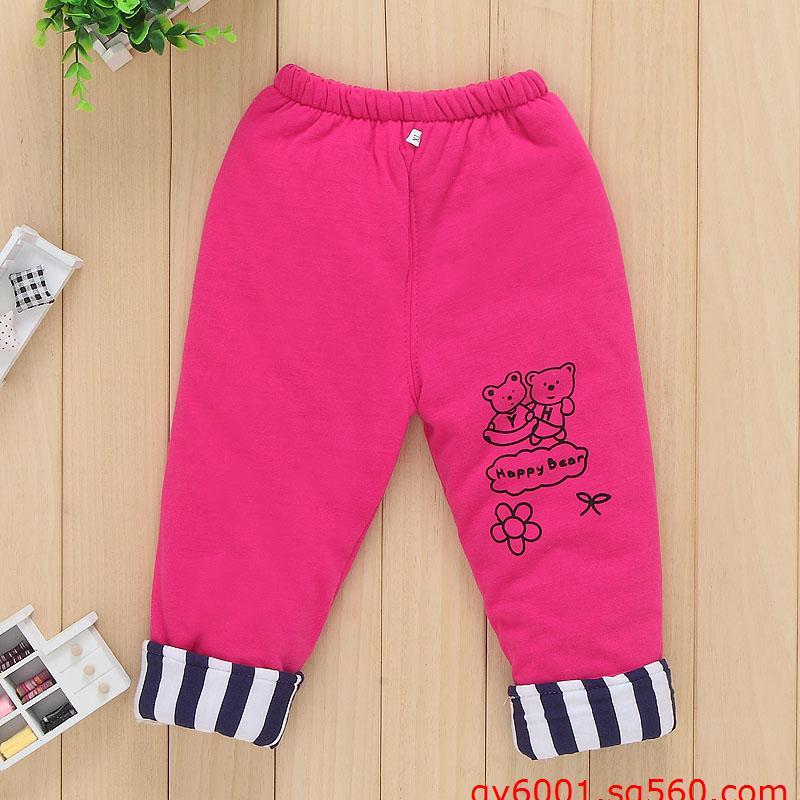 郑州便宜的儿童棉裤批发双层加厚棉裤批发