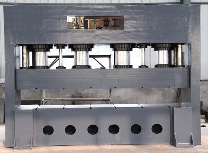 大型防盗门压花液压机-1000t框式液压机3000t门面压花