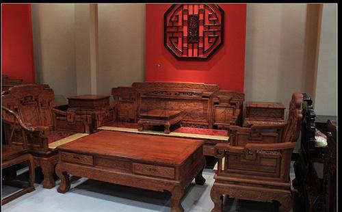 红木家具厂 东阳红木家具价格 福满人间非洲花梨木沙发