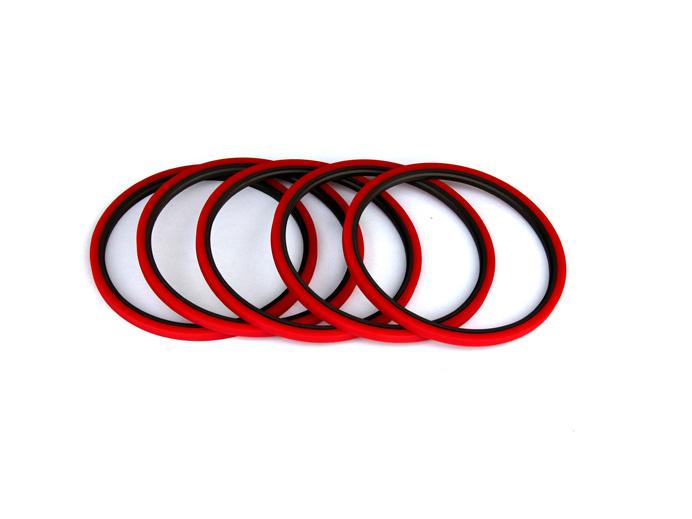 红色ppt图标素材 阶梯