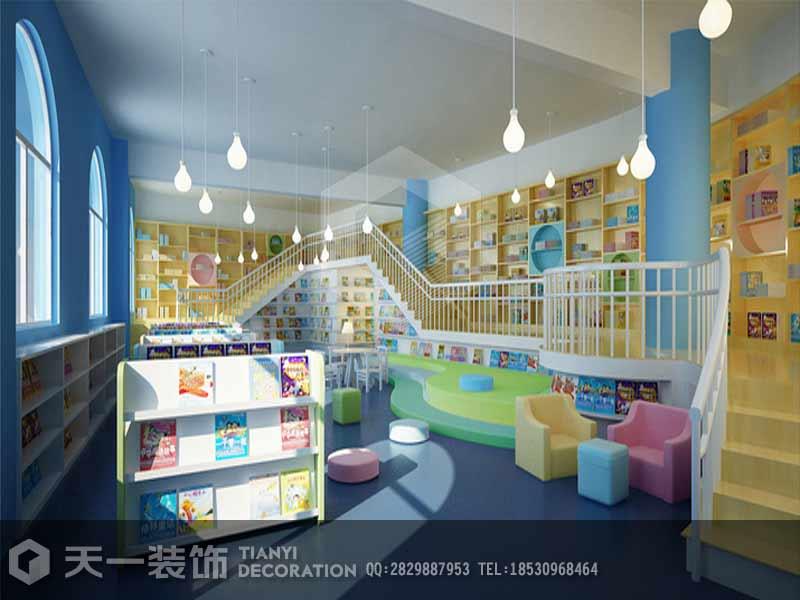 许昌现代幼儿园装修设计效果图 河南咖啡厅装修第一品牌 天一为您提共专业装修设计服务    幼儿园是孩子快乐童年的开始,健康成长的乐园,是培养孩子智力和创造力的源泉,所以幼儿园装修应该创建一些艺术角来培养孩子的兴趣,挖掘孩子的潜质。 一、自然角 让孩子在种植园地、自然角中种植小植物、管理小植物,用图片的形式来记录植物的发芽、生长的过程,从而让他们掌握种植的方法、管理方法;了解一些粗浅的科学知识,同时也培养他们对种植活动的兴趣。 二、区角 幼儿喜欢摆弄和操作物体,幼儿的已有认知能力和经验正是在摆弄和操作过程中