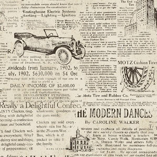 美式怀旧英文旧报纸墙纸