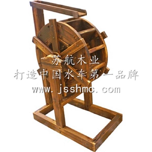 纯手工制作水车,木制水车